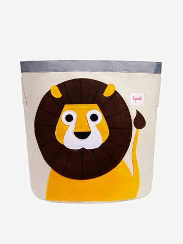 3 Sprouts Storage Bin - Yellow Lion