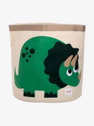 3 Sprouts Storage Bin - Green Dino