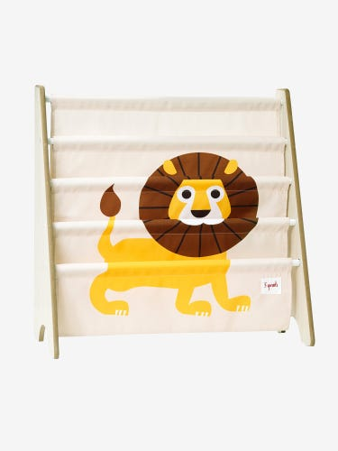 3 Sprouts Book Rack - Yellow Lion