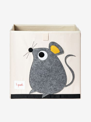 3 Sprouts Storage Box - Grey Mouse