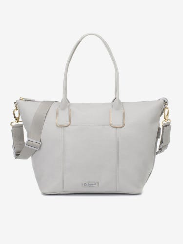 Babymel Roxy Vegan Leather Pale Grey Changing Bag