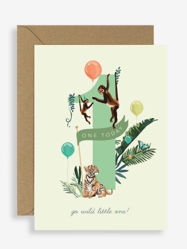 Sirocco 1st Birthday Jungle Jamboree Card