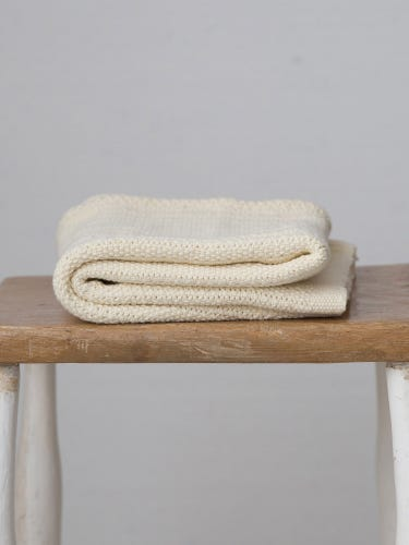 Hippychick Cellular Blanket - Almond Cream