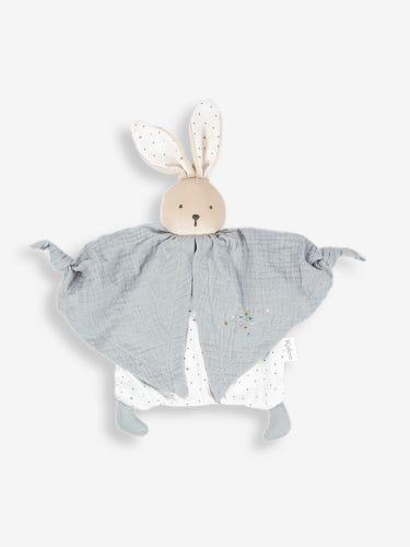 Kaloo Petit Pas Organic Doudou Rabbit Comforter Grey