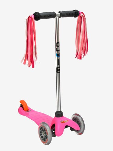 Micro Scooter Pink Handle Ribbons