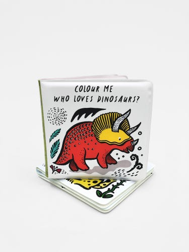 Wee Gallery Colour Me: Who Loves Dinosaurs? Bath Book