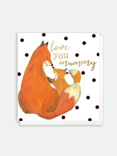 Caroline Gardner Love You Mummy Foxes Card
