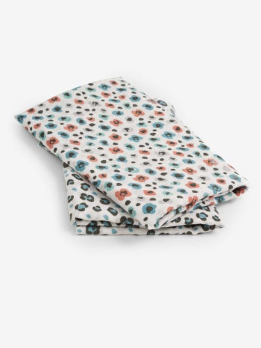 2-Pack Extra Large Leopard Print Muslins