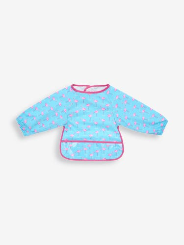 Flamingo Print Deluxe Sleeved Bib