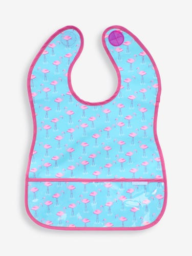 Flamingo Print Deluxe Sleeveless Bib