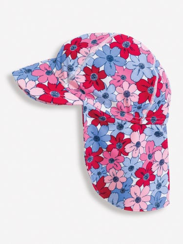 Girls' Floral Sun Protection Hat