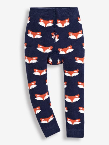 Navy Fox Extra Thick Baby Leggings