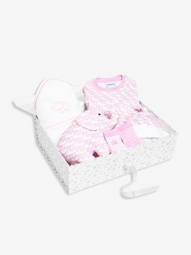 Pink New Baby Elephant Gift Set 0-3 Months