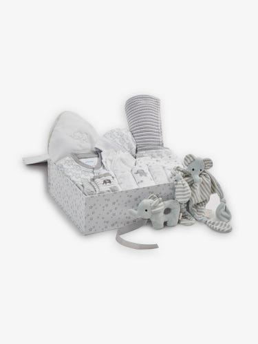 Ultimate New Baby Grey Elephant Gift Set 0-3 Months