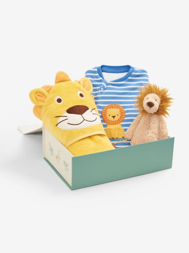 Bath and Bedtime Lion Gift Set 0-3 Months