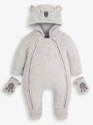 Grey Cosy Koala Pramsuit