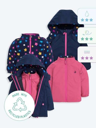 4-in-1 Blossom Waterproof Polarfleece Jacket