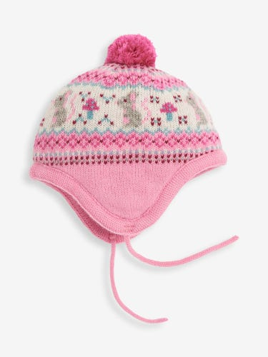 Pink Mouse Fair Isle Hat