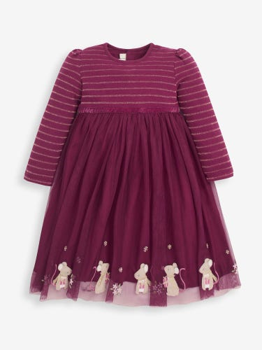 Girls' Berry Mouse Party Dress