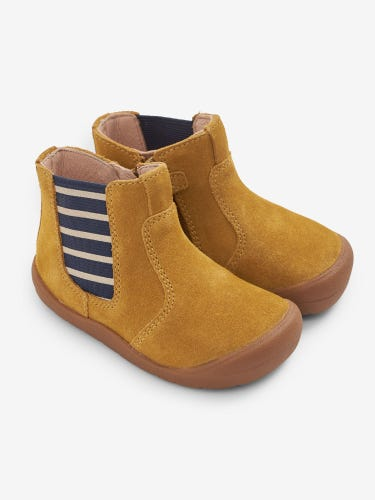 Start-Rite Mustard Suede Leather Boots
