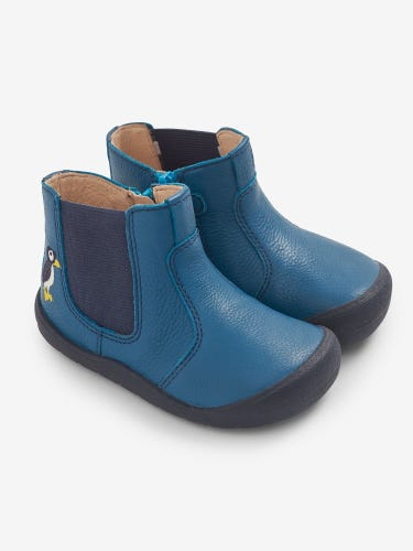 Start-Rite Teal Puffin Leather Boots