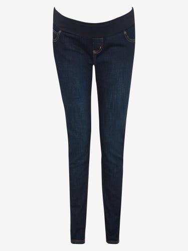 Indigo Wash Under Bump Maternity Skinny Jeans