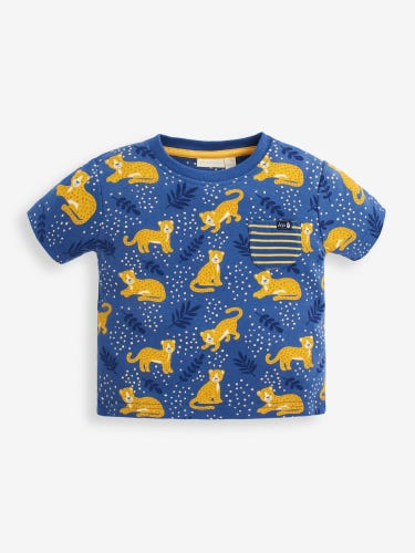 Kids' Indigo Cheetah Print T-Shirt