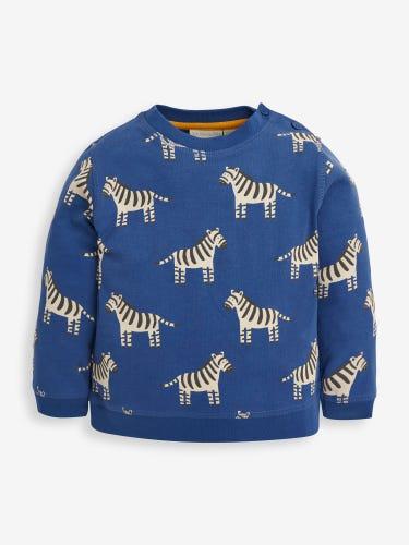 Kids' Indigo Zebra Print Sweatshirt