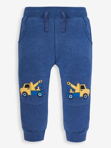 Kids' Indigo Pick-Up Truck Appliqué Joggers