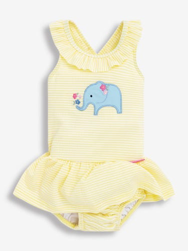 Girls' Elephant Swimsuit with Nappy