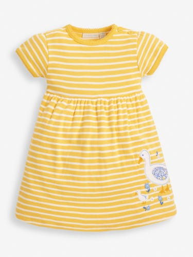 Girls' Yellow Duck Appliqué Dress