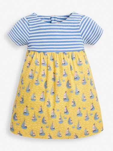 Girls' Lemon Sailboat Mix & Match Dress