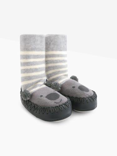 Koala Moccasin Slipper Socks
