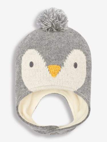 Grey Penguin Hat