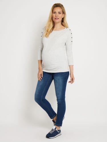 Drop Shoulder Maternity & Nursing Top