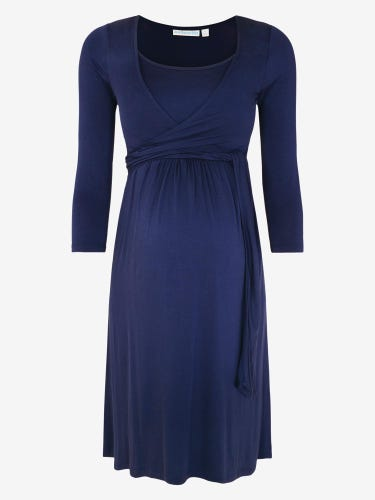 Maternity & Nursing Wrap Tie Dress