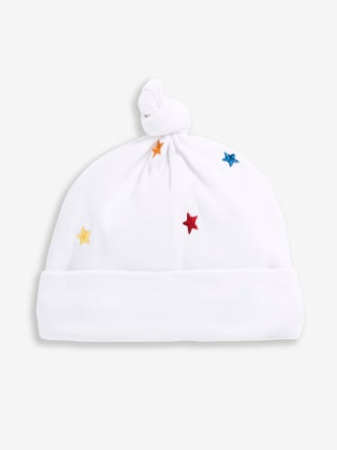 Multi Star Embroidered Baby Hat