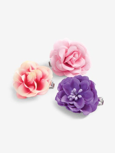 3-Pack Kids' Flower Hair Clips