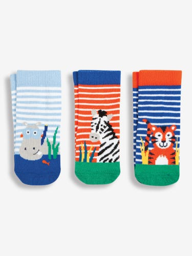 3-Pack Striped Jungle Socks