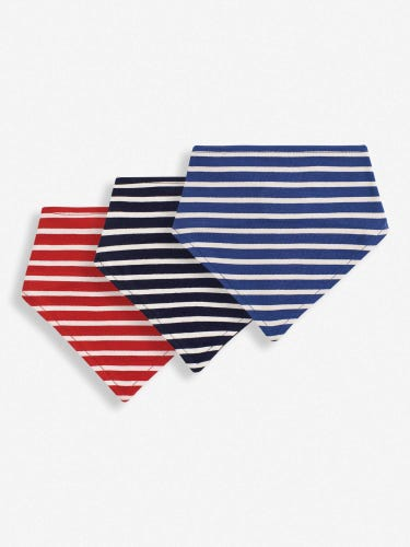 3-Pack Striped Reversible Dribble Bibs