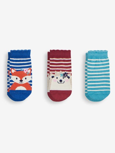 3-Pack Woodland Friends Socks