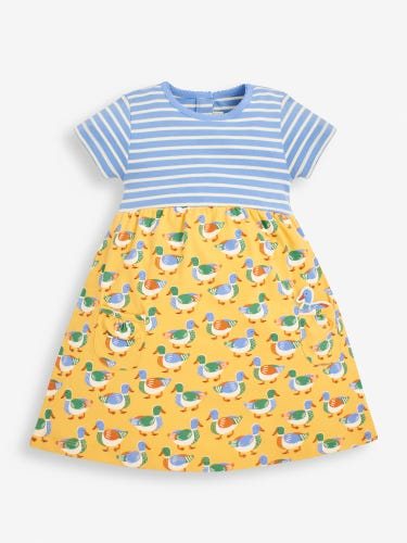 Girls' Duck Print Mix & Match Dress
