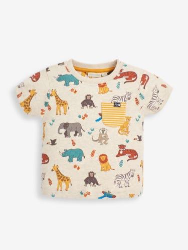 Kids' Natural Safari Print T-Shirt