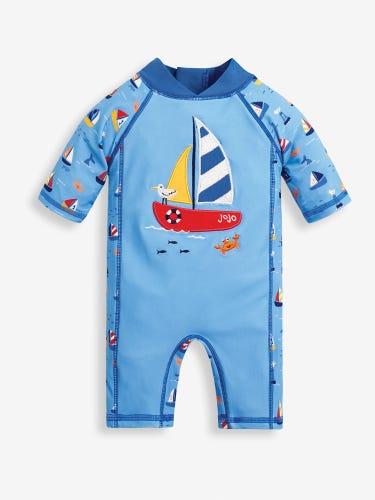 Nautical 1-Piece Sun Protection Suit