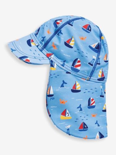 Blue Nautical Sun Protection Hat