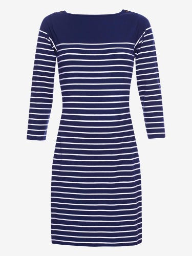 Breton Stripe Maternity Mini Dress