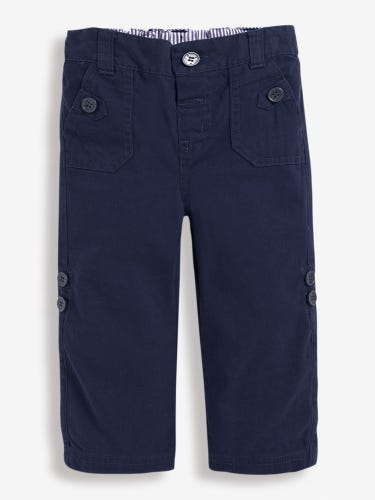 Boys' Twill Turn-Up Trousers