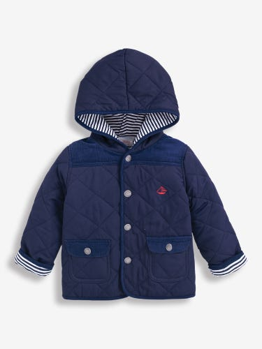 Kids' Navy Quilted Jacket
