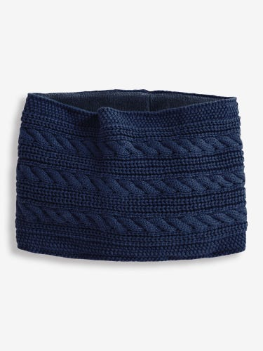 Navy Cable Knit Neck Cosy