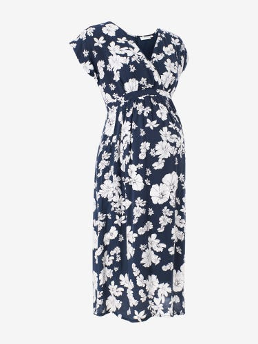 Floral Print Maternity Wrap Dress